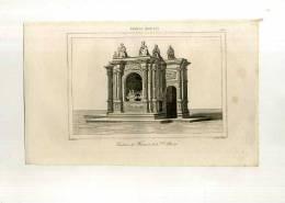 - FRANCE . TOMBEAU DE FRANCOIS 1er A ST. DENIS . GRAVURE SUR ACIER DU XIXe S. - Sculptures