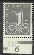 Bund 1955, Michel # 226 Y Papier Fluoreszenz - HAN - Walzendruck - Mint - Ongebruikt