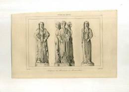 - FRANCE .SCULPTURES DU MONUMENT DE MONTMORILLON . GRAVURE SUR ACIER DU XIXe S. - Sculptures