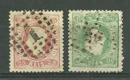 Portugal #30/31 D.Luis Used - L2831 - 1862-1884 : D.Luiz I