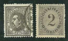 Portugal #52 D.Luis And #59 Telegram Tax Used And Mint  - L2017 - 1862-1884 : D.Luiz I