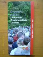 Programa Político De La Comunión Tradicionalista Carlista. 1997. - Books