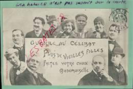 """CPA FANTAISIES, Guerre Au  Célibat,  """"Plus De Vieilles Filles """"  Scènes & Types, Fevr-2013-Div 021 - Humour"""