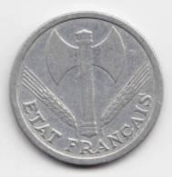 @Y@   Frankrijk  2 Francs  1943 Aluminium    (2188) - France