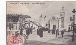 EXHIBITION POSTCARD -BRUXELLES 1910 -QUELQUES PAVILION - Exhibitions