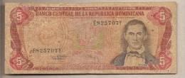 Rep. Dominicana - Banconota Circolata Da 5 Pesos - Dominicana