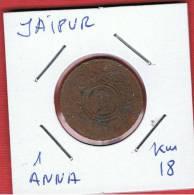 INDIA - JAIPUR  1 Anna   KM18 - Indias