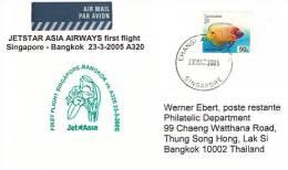 Erstflugpost - Jet Asia - Singapore - Bangkok - 23.03.2005   [dt14c] - Thailand