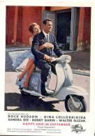 Gina Lollobrigida Motorroller Rock Hudson I Film HAPPY END IM SEPTEMBER Col Filmbild 10x14 Cm Come September TOP-Erhaltu - Motorräder