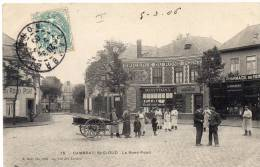 CAMBRAI - ST CLOUD - Epicerie Du Rond Point / CPA Animée, Attelage - Cambrai