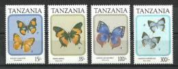 Tanzania 1991 ( Butterflies ) - MNH (**) - Tanzania (1964-...)