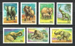 Tanzania 1991 ( Elephants ) - Complete Set - MNH (**) - Tanzania (1964-...)
