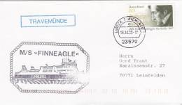 """Schiffspost: MS """"Finneagle"""", Der Finnlines, In Travemünde, Poststempel: Lübeck Travemünde 16.10.2000"""