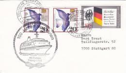 """Schiffspost: MS """"Europa"""", 100 Jahre Kreuzfahrten, Poststempel: Dt. Schiffspost Hapag Lloyd AG Kreuzfahrten 26.12.1989 - Maritime"""