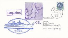 "Schiffspost: MTS ""Daphne"" Der Costa Armatori, Genua, Paquebot, Poststempel: Kiel 9.8.1980 - Maritime"