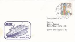 """Schiffspost: MF """"Gelting Nord"""", Faaborg-Gelting-Linien, Poststempel: Gelting 7.7.1981"""
