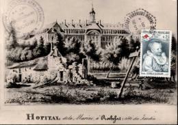 Carte Postale Hopital Rochefort Cachet Hexagonal Rochefort Fourriers Marine + Expo. Philatélique 4 5 Juin 1968 + Timbre - Rochefort