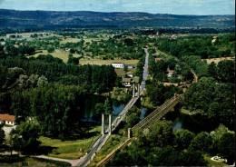 """Puybrun-en-Quercy Vue Aérienne """"La Guingette"""" Plage-golf Miniature-grill-Discothèque Le Bourg En Second Plan - France"""