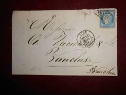 R71.lettre De  Marseille Pour L'Isle Sur Sorgue;nuance Et 2 Scans.60 Type 2 - 1871-1875 Cérès