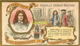 Chromo Guérin Boutron, Les Bienfaiteurs De L'Humanité, Denis Papin - Guerin Boutron
