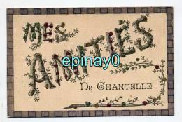 Br - 03 - CHANTELLE - Amitiés - Trés Belle Fantaisie Avec Paillette - RARE - France
