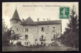 CPA  ANCIENNE- FRANCE- YENNE (73)- CHATEAU DE SÔMONT EN TRES GROS PLAN DE FACE AVEC ANIMATION- - Yenne