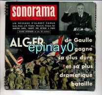 SONORAMA - DE GAULLE à ALGER - Albert Camus - Brigitte BARDOT - Martine CAROL - BRIALY - Francoise ARNOUL - HANS WERNER - Formats Spéciaux