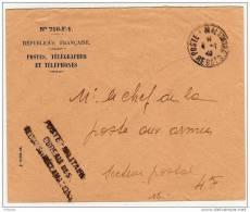CaD ´Poste Militaire REBUTS´ Du 4.1.40 Sur Lettre De Service - Marcophilie (Lettres)