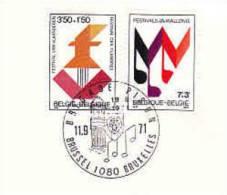 DV 1894) BELGIUM Belgien MiNr. 1651-52 FDC, Musikfeste In Flandern Und Wallonien, Music Festivals, Flandres Wallonie - Musik