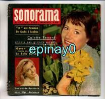 SONORAMA - Colette RENARD - Geori BOUE - Elga ANDERSEN - Joe SENTIENI - DE GAULLE - Spezialformate