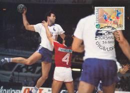 D11128 CARTE MAXIMUM CARD 1989 FAROER - HANDBALL CP ORIGINAL - Handball