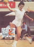 D11129 CARTE MAXIMUM CARD 1989 SPAIN - HANDBALL OLYMPICS BARCELONA CP ORIGINAL - Handball