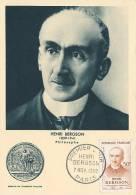 D11131 CARTE MAXIMUM CARD 1959 FRANCE - NOBELPRIZE LITERATURE BERGSON CP ORIGINAL - Nobel Prize Laureates