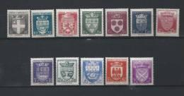 FRANCE 1942 N° 553/64* Trace Légère Cote 31 Euro PROVINCES - Nuovi