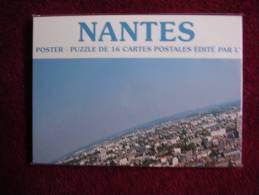 16 Carte - Puzzle - Panorama De Nantes - Nantes