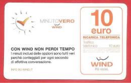 ITALIA - WIND - RICARICARD - RICARICA - MINUTO VERO - SCAD. GIUGNO 2016 - 10 EURO - Italy