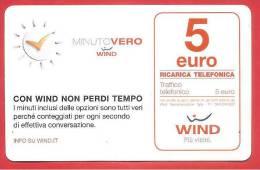 ITALIA - WIND - RICARICARD - RICARICA - MINUTO VERO - SCAD. GIUGNO 2016 - 5 EURO - Italia
