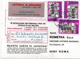 1982  CARTOLINA   CON ANNULLO PIOLTELLO MILANO - 1981-90: Storia Postale