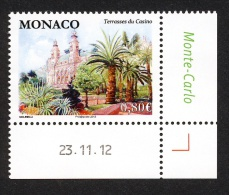 Monaco 2013 - Yv N° 2865 ** - Terrasses Du Casino (coin Daté) - Unused Stamps