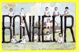 * Bébés Multiples - Babies - Baby (Fantaisie - Fantasy) * Voeux De Bonheur, TOP CPA, Old Postcard, Jardin, Ferme, Farm - Bebes