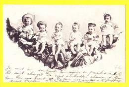 * Bébés Multiples - Babies - Baby (Fantaisie - Fantasy) * Pecheur, Vin, Wine, Champagne, TOP CPA, Pipe, Old - Bebes
