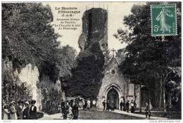 77-PREUILLY- EGLIGNY-Ancienne Abbaye-La Chapelle Le Jour Du Pélérinage-animée - Non Classés