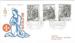 FDC  VENETIA - ANNO  1969 - NATALE  SMOM - S.M.O.M. SOVRANO MILITARE ORDINE DI MALTA) - Malte (Ordre De)