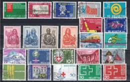 Verzameling Zwitserland (o) - See Scans - Sammlungen (ohne Album)