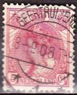 1899 Langebalkstempel GEERTRUIDENBERG 1 Met Datumfout Op Koningin Wilhelmina 5 Cent Rood  NVPH 60 - Poststempels/ Marcofilie