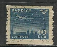 SWEDEN - 1930 - POSTE AERIENNE - Yvert # A4 - USED