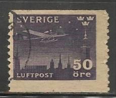 SWEDEN - 1930 - POSTE AERIENNE - Yvert # A5 - USED