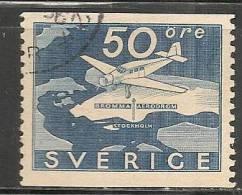 SWEDEN - 1936 - POSTE AERIENNE - Yvert # A6 - USED