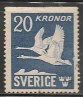 SWEDEN - 1936 - POSTE AERIENNE - FAUNA - BIRDS  - Yvert # A7a - USED