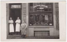 Bruxelles ? Boucherie Chevaline A. Van Erven-De Wit - Animée - à Situer - Carte-photo - Negozi